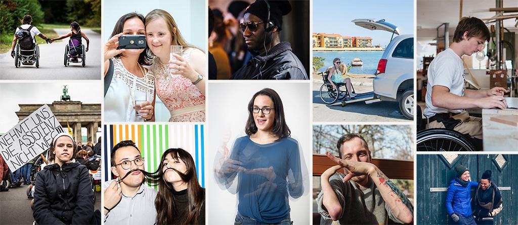 Eine Collage von mehreren Gesellschaftsbildern