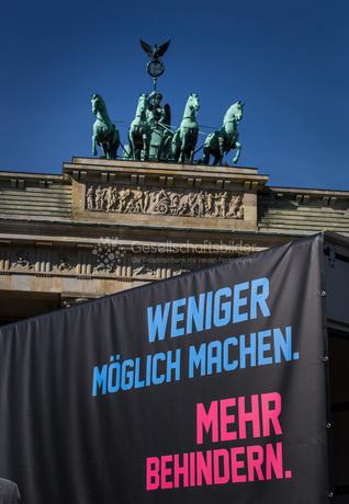 Demo zum Bundesteilhabegesetz am 22. September