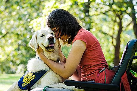 Assistenzhunde für Menschen mit Behinderung