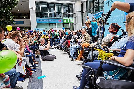 Protest gegen das Reha- und Intensivpflegegesetz